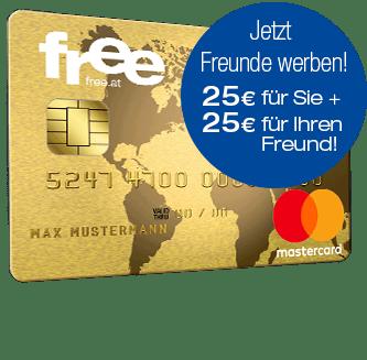 free.at Kreditkarte